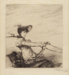 ignaz-marcel-gaugengigl-untitled-woman-driving-carriage-ca-1884