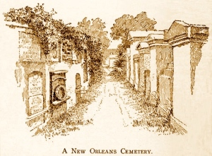 illustration du livre d'Eliza Moore Chinn McHatton Ripley, Social Life in Old New Orleans, 1832-1912(A New Orleans Cemetery-001