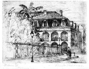 Knute Heldner 1933. Etching Louisiana State Museum, Gift of the Friends of the Cabildo, 1972.021.10
