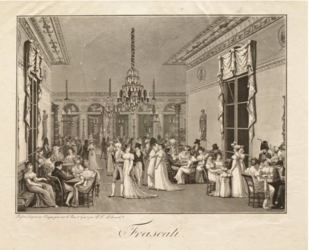 Philibert Louis Debucourt (1755-1832), Frascati en 1807. - copie