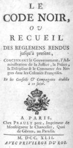 Le Code Noir 1742 edition