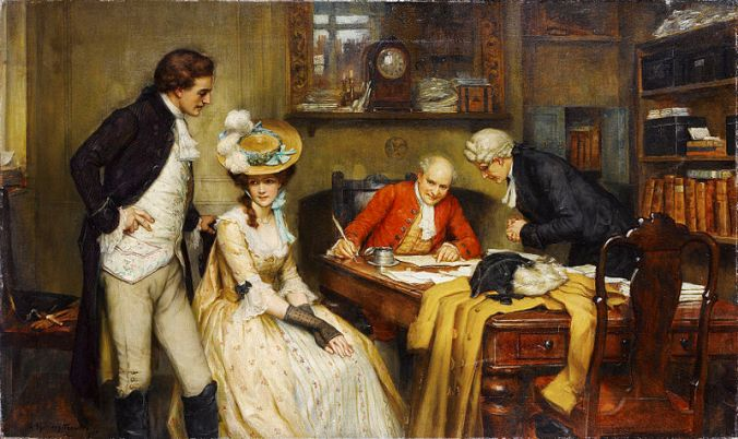 la-signature-du-contrat-de-mariage-par-george-sheridan-knowles