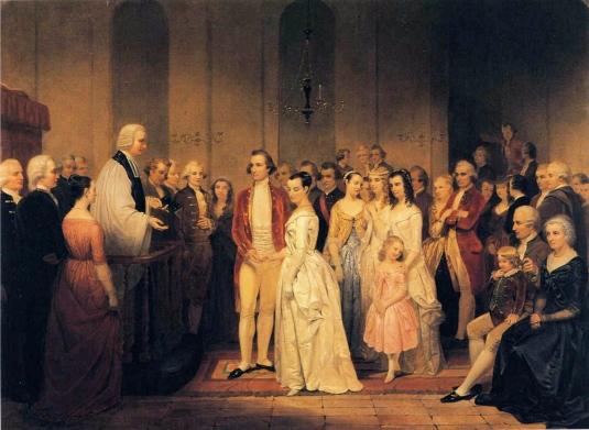 Junius Brutus Stearns - The Marriage of George Washington to Martha Custis.JPG