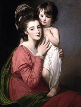portrait-of-mrs-henrietta-morris-and-her-son-john-by-george-romney-1777