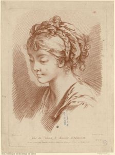 Girl [...] by Gilles Demarteau, 18th century. Bibliothèque municipale de Lyon, Public Domain.jpg