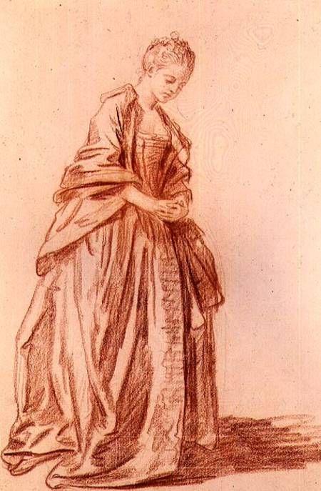 Jean Baptiste Greuze - Draped female figure