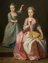 Meriel Legh and Dorothea Byrne by British (English) School, c.1750.jpg