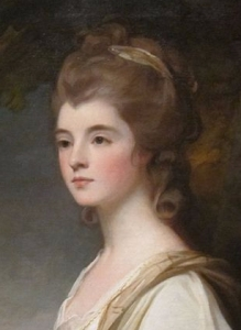 he beautiful Elizabeth, Duchess-Countess of Sutherland (oil on canvas painting by George Romney, 1782)