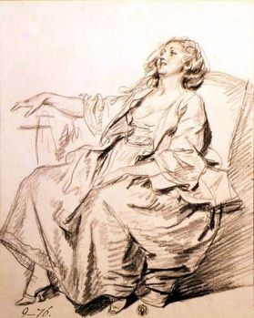 Jean Baptiste Greuze - Young Woman Sitting in an Armchair