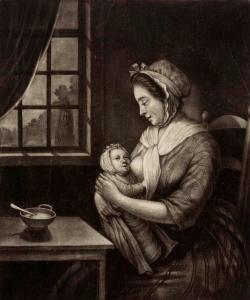 Vrouw geeft borstvoeding, anoniem, 1765 - 1772.jpg