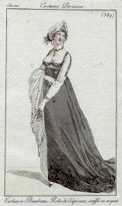 A black crepe dress, an10 Costume parisien