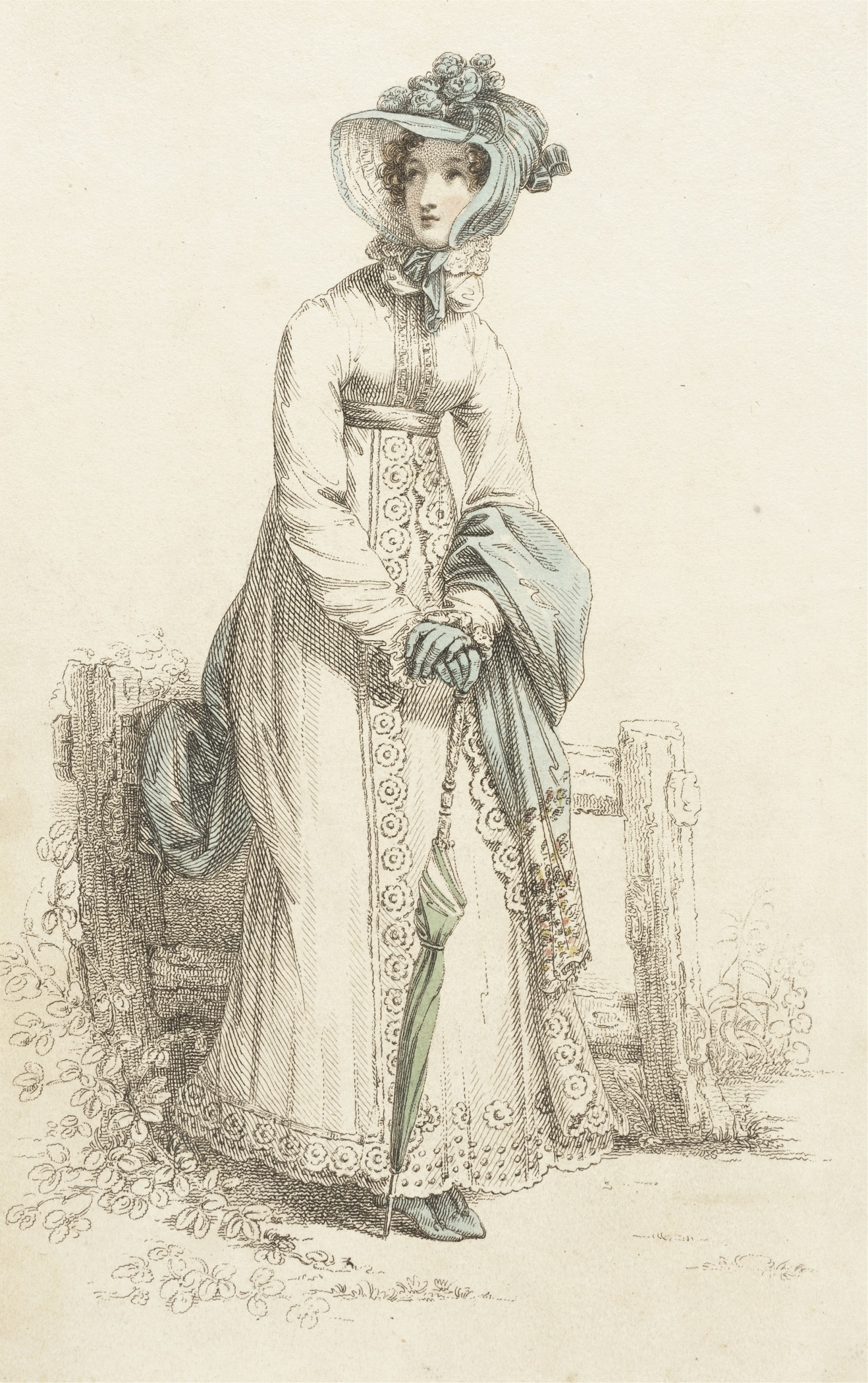 Fashion Plate (Walking Dress) Rudolph Ackermann (England, London, 1764-1834), England, London, October 1, 1820 .jpg