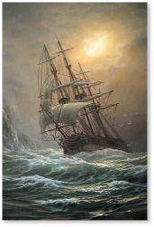 Vlaschenko Valentine (Ukrainian:Russian- 1955) | Ship in a storm