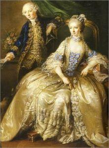 1764 - Marianne Carnasse, countess of Forbach, morganatic wife of Christian IV by Johann.jpg