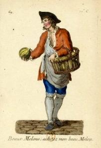 Beaux melons ; achetez mon beau melon | 18th Century Melon Seller | Gallica