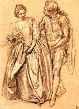 Early 1700's french fashion- An elegant Couple ~ Hubert-Francois Gravelot (Engraver & Book Illustrator).jpg