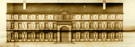 Façade et élévation du Bâtiment et monastère des D. Religieuse.jpg