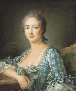 Graciane (Portrait d'une femme en buste by François-Hubert Drouais 1757.jpg