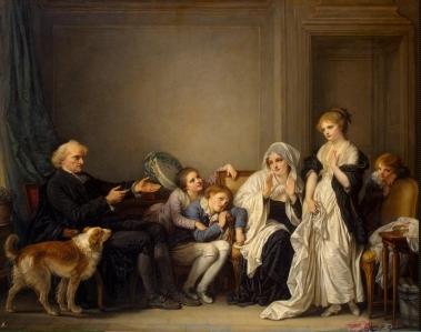 La Veuve et son prêtre, Jean-Baptiste Greuze (seconde moitié du XVIIIe).jpg