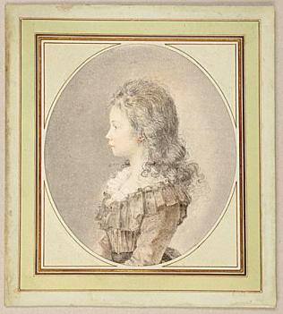 Peydédaut Blanche-Marie (Augustin de-SAINT-AUBIN-Portrait of aY oung Girl in Profile.jpg
