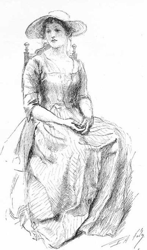 Peypédaut Jeanne (Edwin Austin Abbey- Illustration from The Deserted Village, Harper's Monthly Magazine,.jpg