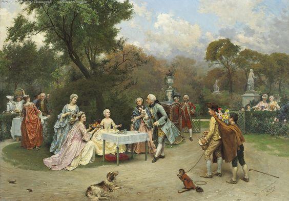 Raimundo Madrazo Princess in the gardens of Versailles..jpg