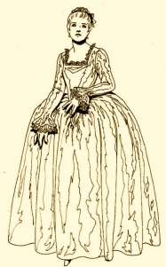 Robe à la Française, ca. 1750 French Baroque and Rococo Fashions Coloring Page 3.jpg