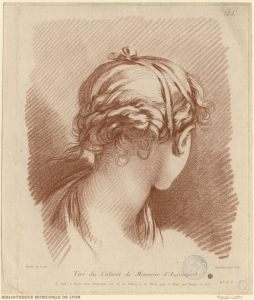 Tête de fillette vue par derrière par Gilles Demarteau et François Boucher .jpg