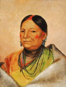 Brazo-Picade (George Catlin (American artist, 1796-1872) Mee-chéet-e-neuh, Wounded Bear's Shoulder, Wife of the Chief.jpg