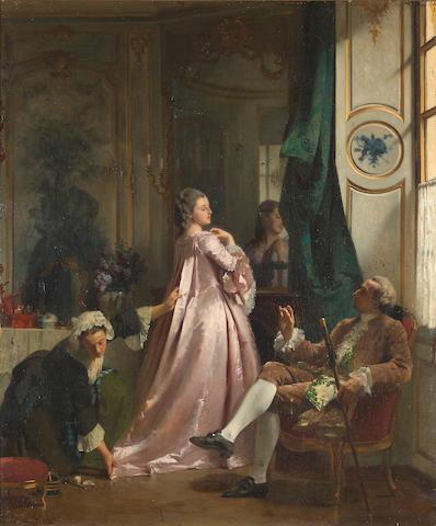 Joseph Caraud (français, 1821-1905) L'approbation du prétendant .jpeg