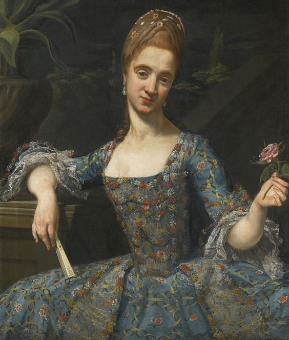 Madame Payen de Noyan (Giuseppe Baldrighi PARMA 1723 - 1802 PORTRAIT OF A LADY IN AN ELABORATELY EMBROIDERED BLUE DRESS.jpg