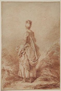 Peydédaut Blanche-Marie (Jean-Honoré FRAGONARD, Jeune femme debout, en pied, vue de dos. Sanguine.jpg
