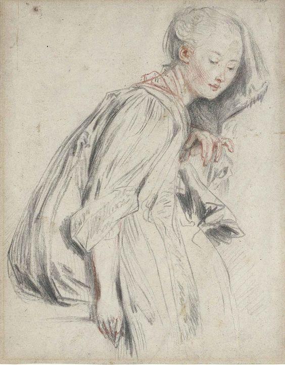 Peypédaut Blanche Marie (The Athenaeum - A Seated Young Woman (Jean-Antoine Watteau - ).jpg