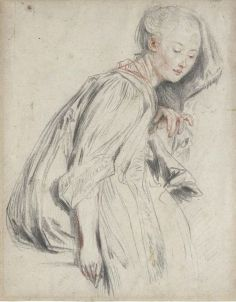 Peypédaut Blanche Marie (The Athenaeum - A Seated Young Woman (Jean-Antoine Watteau - ).jpg