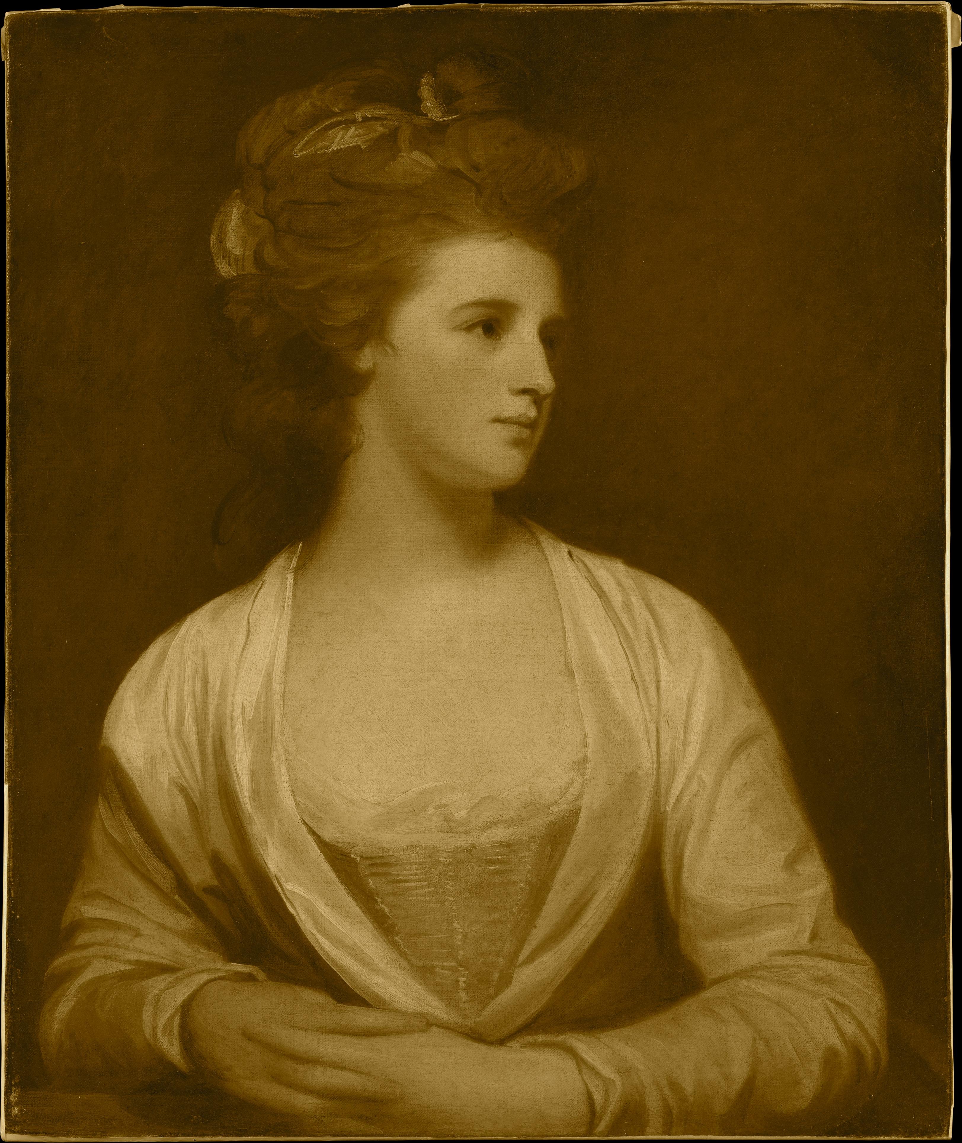 George Romney (Portrait d'une femme, dit être Emily Bertie Pott (mort en 1782)