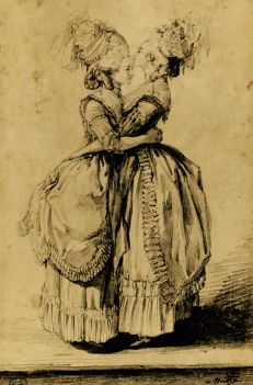 Madame Elisabeth and her sister-in-law Marie Antoinette, 18th C by Alexandre Moitte  .jpg