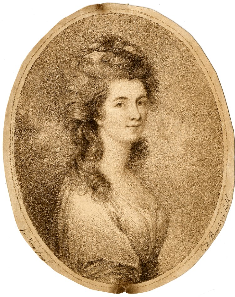 After J Nixon, Georgina, Duchess of Devonshire, 1783, Stipple with etching (British Museum).