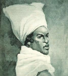 Les femmes d'ascendance africaine de la Nouvelle-Orléans portaient souvent des tignons traditionnels comme coiffure. Courtoisie de la collection historique de la Nouvelle-Orléans