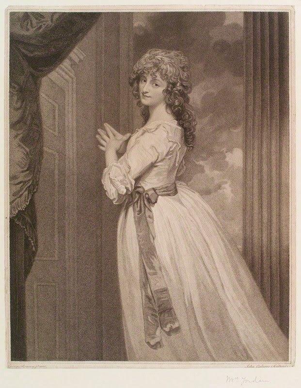 Cambes Sadirac Antoinette-Marie (Dorothea Jordan by John Ogborne after George Romney, 1788